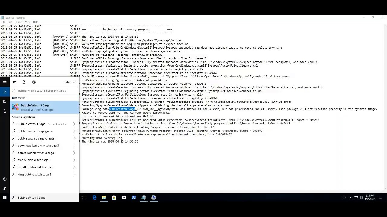 Windows 10 Fall Creator Update 1709 – Sysprep was not able to validate your  Windows installation