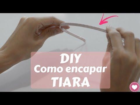 DIY - Como encapar tiara com fita de cetim   Passo a passo SIMPLES 2017