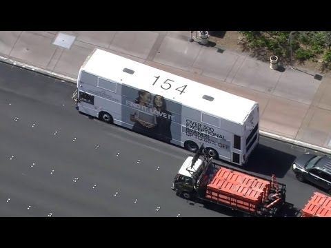 Police standoff with suspect on bus in Las Vegas