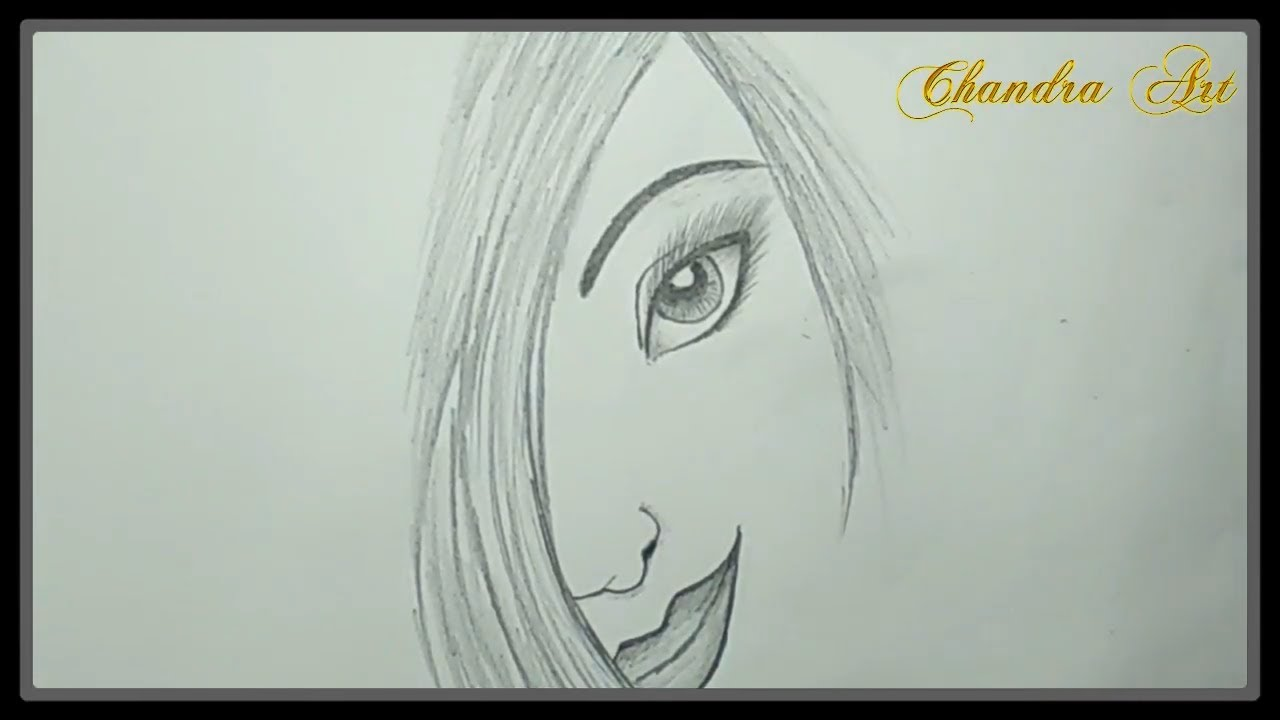 Cool pencil drawing how to sketches a girl face easy