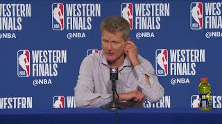 Steve Kerr Postgame Press Conference  Warriors vs Rockets Game 3  May 20 2018