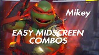 Injustice 2 | TMNT Michelangelo Easy Midscreen Combos