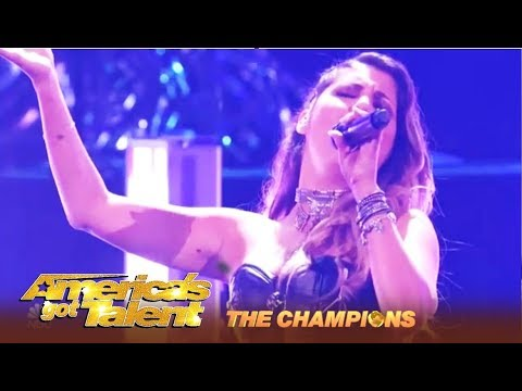 Cristina Ramos: Spain's HOTTEST Rock Chick With Epic Voice Finals Performance | AGT Champions