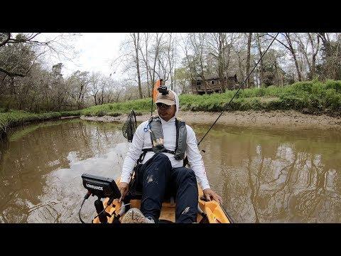 Got a chunky bass kayak fishing Clear Creek TX