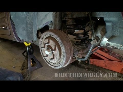 Replacing Rear Brakes, 2002 PT Cruiser - EricTheCarGuy - YouTube