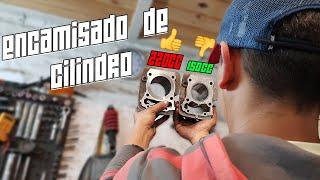 ENCAMISADO de CILINDRO de TITAN 150cc // Cilindro 220cc *CG PREPARADO* // 150cc a 220cc