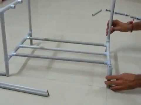 Diy How To Make Shoes Stand Using Pvc Pipe Youtube