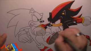 Dibujando a: Sonic Vs Shadow