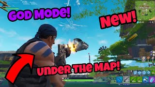 Fortnite Glitches Season 5 (New) Become Invincible Under The Map PS4/Xbox one 2018