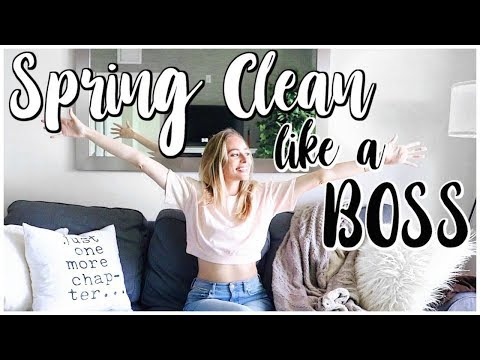 15 SPRING CLEANING HACKS + TIPS | Spring Cleaning Life + Checklist | Renee Amberg