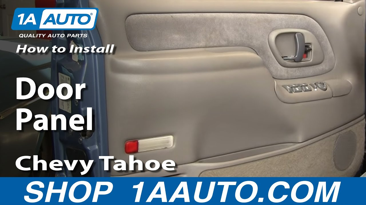 how to install replace door panel chevy gmc pickup truck or suv 95 98 1aauto com [ 1280 x 720 Pixel ]