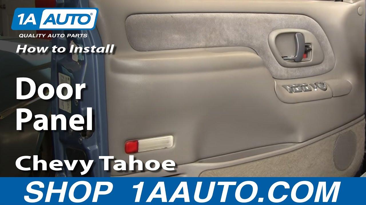 how to remove door panel chevy tahoe 95 98 [ 1280 x 720 Pixel ]