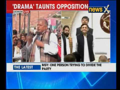 Mulayam Singh Yadav addresses media in Lucknow
