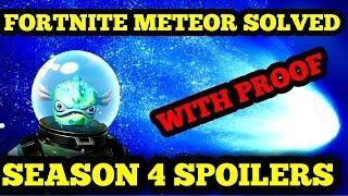 FORTNITE METEOR SOLVED - *SPOILERS* SEASON 4 BATTLE PASS - FORTNITE COMET THEORY