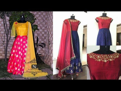 Traditional Anarkali Dress Designs From Silk Sarees