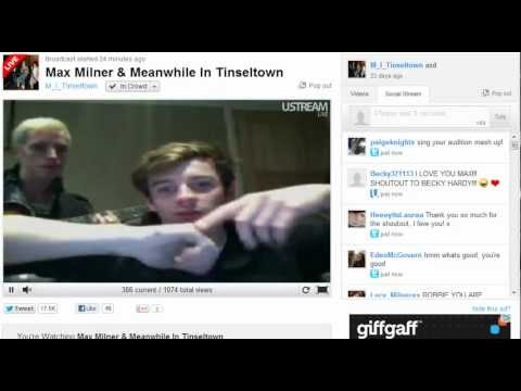 Max Milner and Meanwhile In Tinseltown - Ustream #3 - 9th June 2012