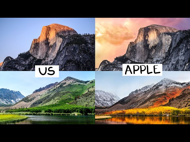 Apple Macos Wallpapers Exact Photo Replicas By Youtubers