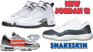 Air jordan 12 white, grey, red 2019, 11 low navy snakeskin, nike sb 1 pack and more