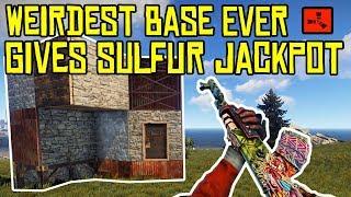 The WEIRDEST BASE EVER Gives A LUCKY SULFUR JACKPOT! - RUST (The Finale)