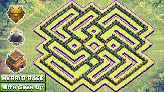 Updated COC Town Hall 8 Hybrid Base With Gear Up ♦ TH8 Trophy & Farming Base New Updates