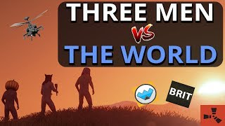 When Three SOLO Players TEAM UP!! Rust Group Survival Gameplay