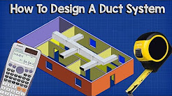 Ductwork sizing, calculation and design for efficiency - HVAC Basics + full worked example
