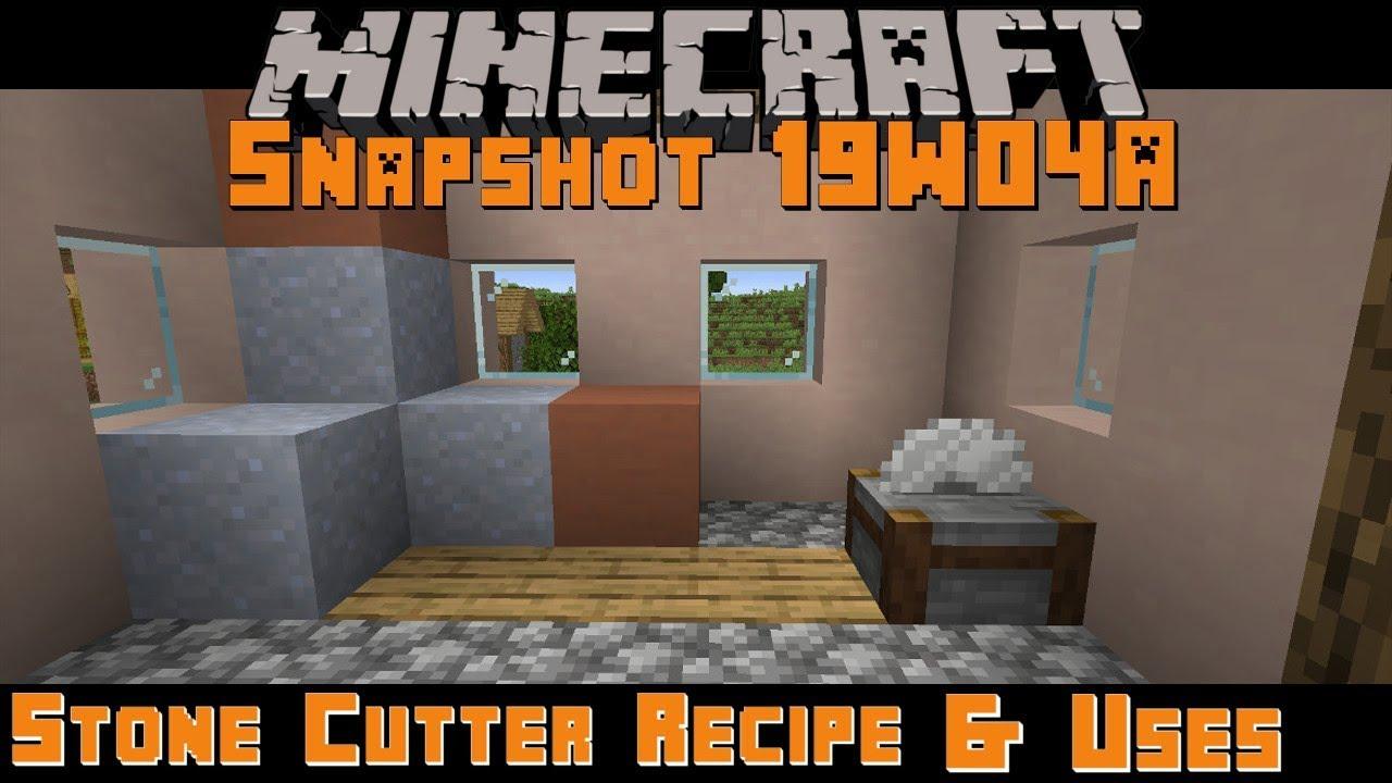 Minecraft 12.124 Snapshot 129W12A Stone Cutter Recipe & Uses!