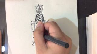 How to Draw a Nutcracker Soldier