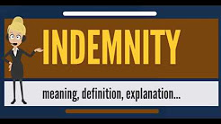 What is INDEMNITY? What does INDEMNITY mean? INDEMNITY meaning, definition & explanation