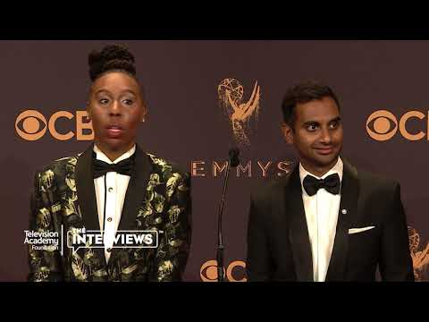 "Lena Waithe and Aziz Ansari (""Master of None"") on being on a digital detox — 2017 Primetime Emmys"