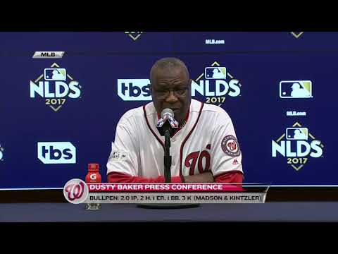 Dusty Baker after Game 1 of the NLDS