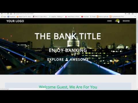 Online Banking System Admin Panel
