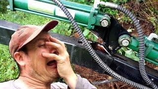 MASSIVE FAIL Main Boom Break Down - Kellfri ATV Towable backhoe