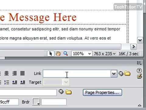 Add a Link in Dreamweaver CS3