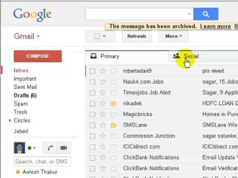 How to view archived mail gmail