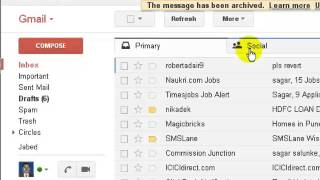 how to view archive folder in gmail
