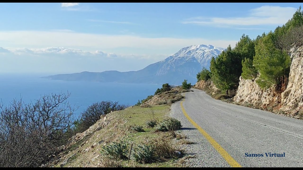 Samos roadtrip: Chora - Koumaradei - Pyrgos - Spatharei - Pagondas - Myli