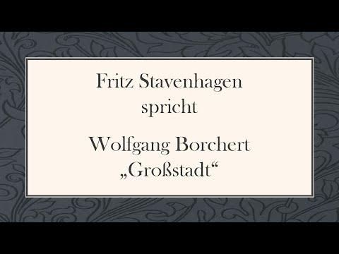 """Wolfgang Borchert """"Großstadt"""""""