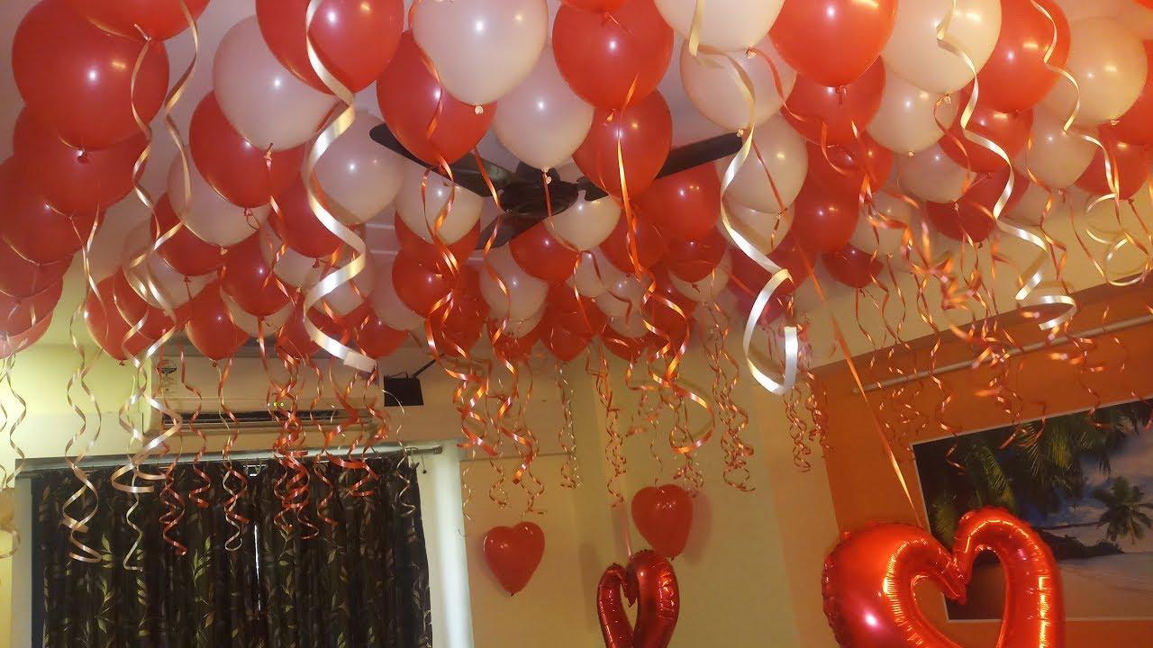 Romantic Bedroom Decorating Ideas Birthday Party Decoration Youtube