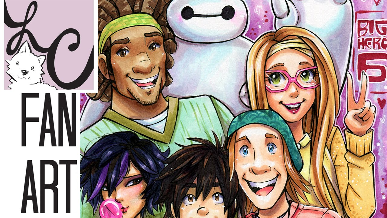 Disney S Big Hero 6 Fan Art Copic Marker Coloring Youtube