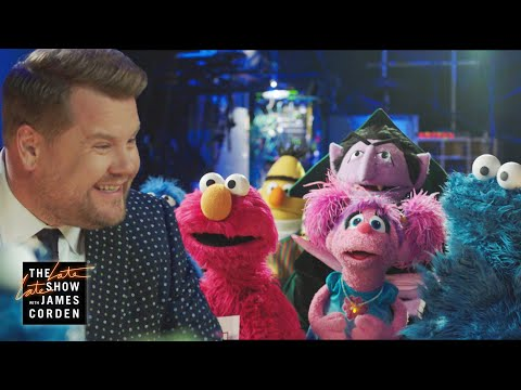 Sesame Street Cast Crashes The Late Late Show Cold Open