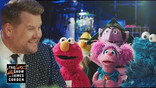 Sesame Street Cast Crashes The Late Late Show (Cold Open)