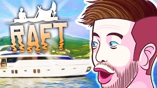 WE FOUND A CRUISE SHIP! - Raft with The Crew! - Season 3 Episode 4