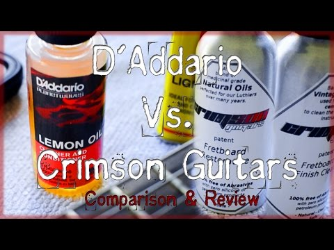 D'Addario Lemon Oil VS. Crimson Guitars Products (Comparison & Review)