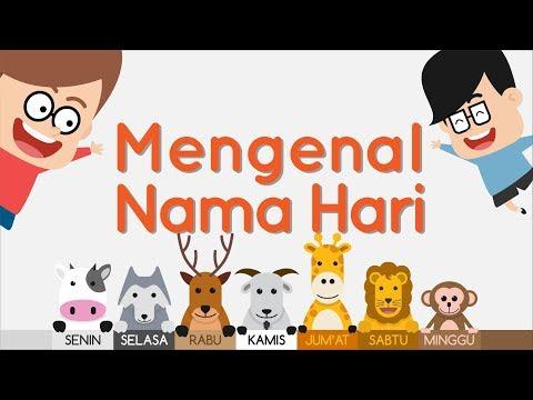 Belajar Nama Hari Bahasa Inggris dan Indonesia | Eza dan Adi