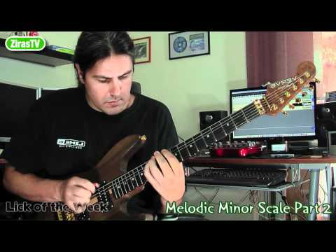 Melodic Minor Scale Part2 (Soloing)   Lick Of The Week 96