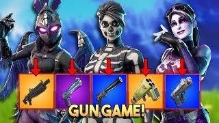 1v1v1 GUN GAME BATTLE!! - Fortnite Playground (Nederlands)