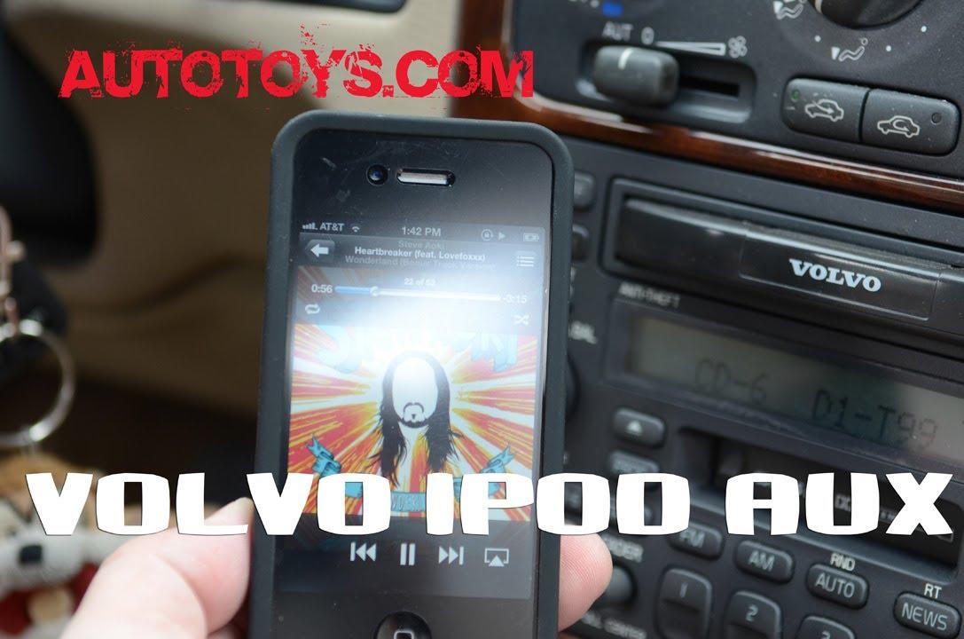 VOLVO IPOD adapter SC radios by Blitzsafe & AutoToys.Com (direct sound no fm modulator) - YouTube