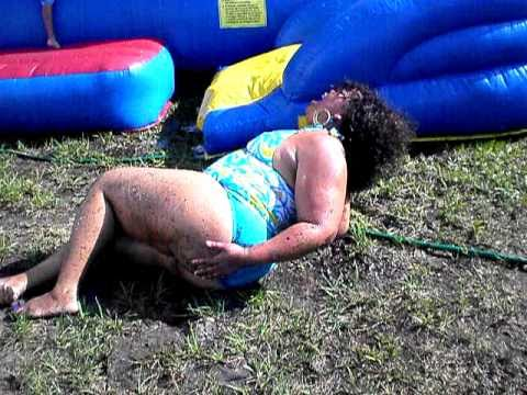 Waterslide on Bikini off falls