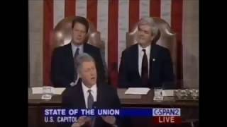 Bill Clinton had the same Immigration plan as Donald Trump in 1995. (Receives Standing Ovation)
